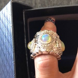 💍💍💍 NWT STERLING SILVER ETHIOPIAN OPAL RING 💍